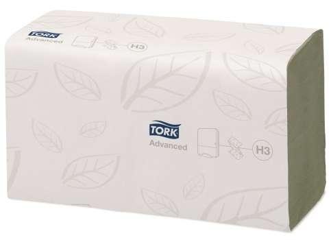 """Papírové ručníky """"Z"""" Tork Singlefold, zelené, 2-vrstvé"""