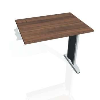 Psací stůl Hobis FLEX FE 800 R, ořech/kov