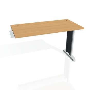 Psací stůl Hobis FLEX FE 1200 R, buk/kov