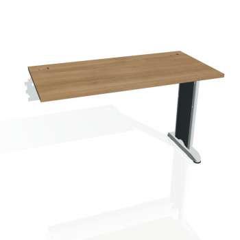 Psací stůl Hobis FLEX FE 1200 R, višeň/kov