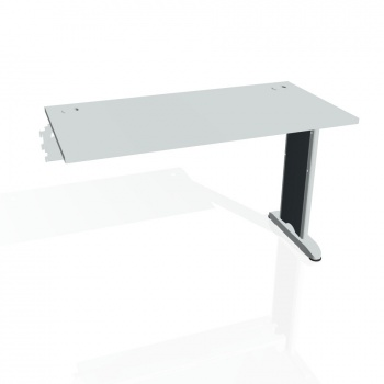 Psací stůl Hobis FLEX FE 1200 R, šedá/kov