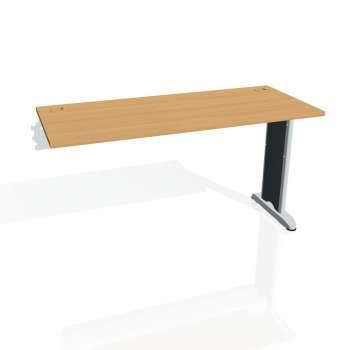 Psací stůl Hobis FLEX FE 1400 R, buk/kov