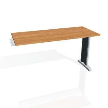 Psací stůl Hobis FLEX FE 1400 R, olše/kov