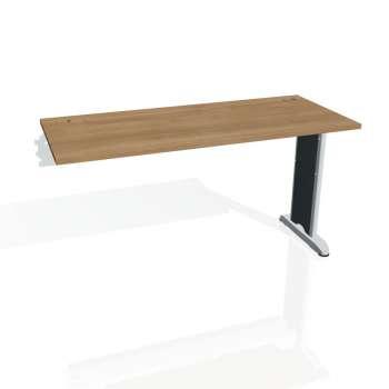 Psací stůl Hobis FLEX FE 1400 R, višeň/kov