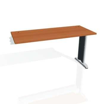 Psací stůl Hobis FLEX FE 1400 R, třešeň/kov