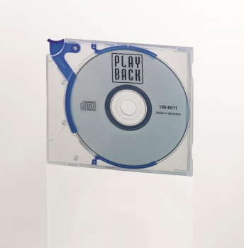 Plastový obal na CD/DVD Durable QuickFlip - transparentní/modrá