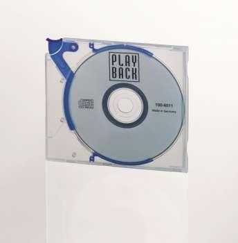Plastový obal na CD/DVD Durable QuickFlip - transparentní/modrý