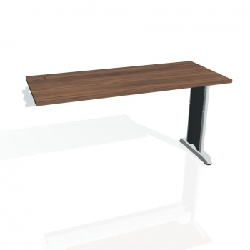Psací stůl Hobis FLEX FE 1400 R, ořech/kov