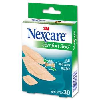 Náplasti - Comfort Nexcare, flexibilní a přizpůsobivé, 30 ks