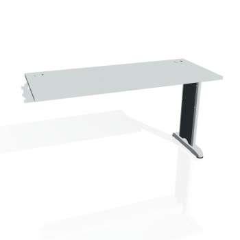 Psací stůl Hobis FLEX FE 1400 R, šedá/kov