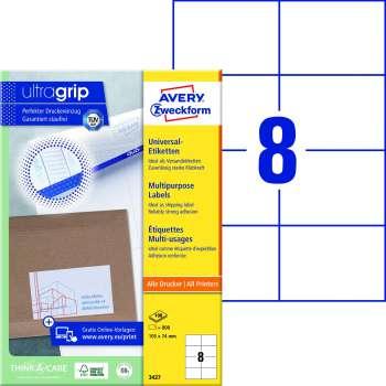 Samolepicí etikety Avery - 105,0 x 74,0 mm, 800 etiket