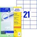 Univerzální etikety Avery Zweckform - bílé, 70 x 42,3 mm, 2 100 ks