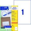 Univerzální etikety Avery Zweckform - bílé, 210 x 297 mm, 100 ks