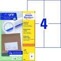 Univerzální etikety Avery Zweckform - bílé, 105 x 148 mm, 400 ks