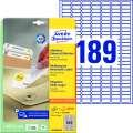 Snímatelné etikety Avery Zweckform - bílé, 25,4 x 10 mm, 5 670 ks