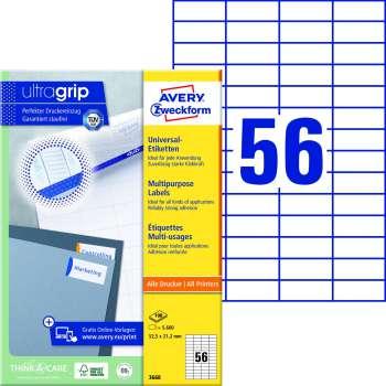 Samolepicí etikety Avery - 52,5 x 21,2 mm, 5600 etiket