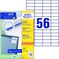 Univerzální etikety Avery Zweckform - bílé, 52,5 x 21,2 mm, 5 600 ks