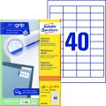 Samolepicí etikety Avery Zweckform - 48,5 x 25,4 mm, 4000 etiket