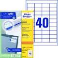 Univerzální etikety Avery Zweckform - bílé, 48,5 x 25,4 mm, 6 400 ks