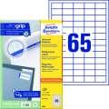 Univerzální etikety Avery Zweckform - bílé, 38 x 21,2 mm, 6 500 ks