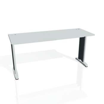 Psací stůl Hobis FLEX FE 1600, šedá/kov