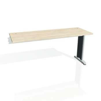 Psací stůl Hobis FLEX FE 1600 R, akát/kov