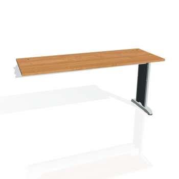 Psací stůl Hobis FLEX FE 1600 R, olše/kov