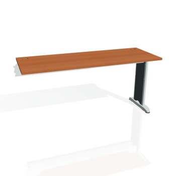 Psací stůl Hobis FLEX FE 1600 R, třešeň/kov