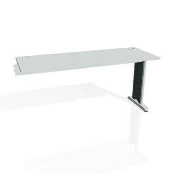 Psací stůl Hobis FLEX FE 1600 R, šedá/kov