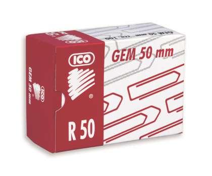 Sponky kancelářské měděné ICO, 50 mm