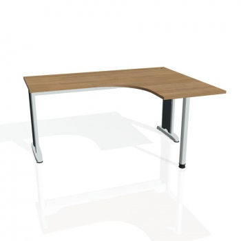 Psací stůl Hobis FLEX FE 60 levý, višeň/kov
