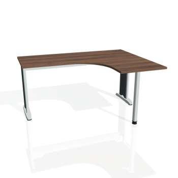 Psací stůl Hobis FLEX FE 60 levý, ořech/kov