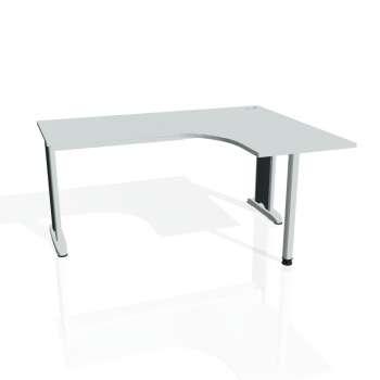 Psací stůl Hobis FLEX FE 60 levý, šedá/kov