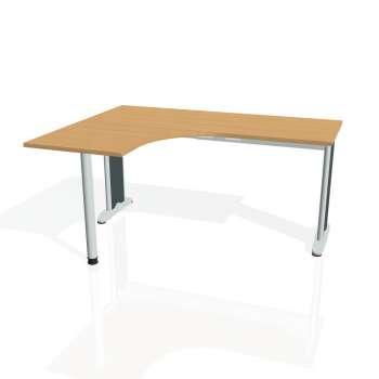 Psací stůl Hobis FLEX FE 60 pravý, buk/kov