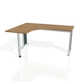 Psací stůl Hobis FLEX FE 60 pravý, višeň/kov