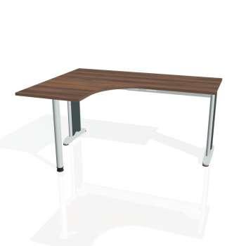 Psací stůl Hobis FLEX FE 60 pravý, ořech/kov