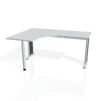 Psací stůl Hobis FLEX FE 60 pravý, šedá/kov