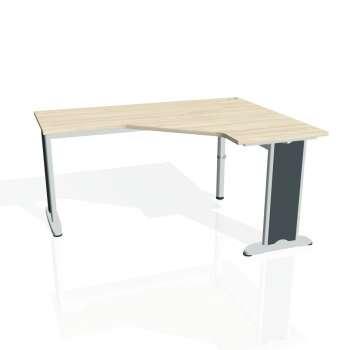Psací stůl Hobis FLEX FEV 60 levý, akát/kov