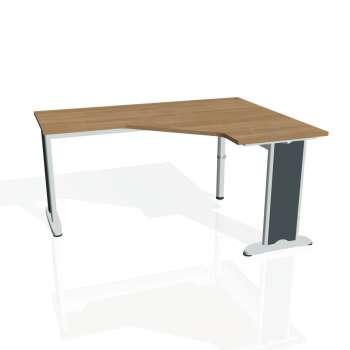 Psací stůl Hobis FLEX FEV 60 levý, višeň/kov