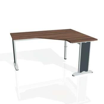 Psací stůl Hobis FLEX FEV 60 levý, ořech/kov