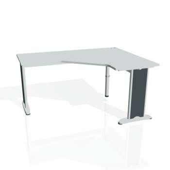 Psací stůl Hobis FLEX FEV 60 levý, šedá/kov