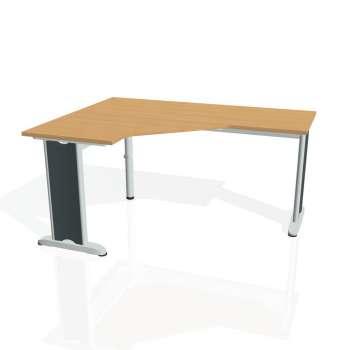 Psací stůl Hobis FLEX FEV 60 pravý, buk/kov