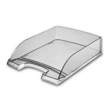 Zásuvka LEITZ PLUS - A4, plastová, transparentní kouřová