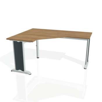Psací stůl Hobis FLEX FEV 60 pravý, višeň/kov