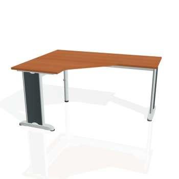 Psací stůl Hobis FLEX FEV 60 pravý, třešeň/kov