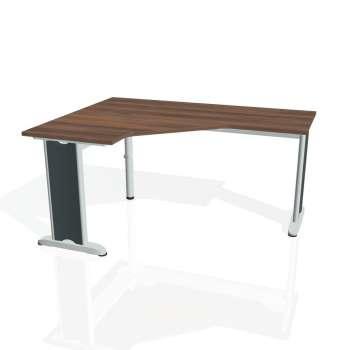 Psací stůl Hobis FLEX FEV 60 pravý, ořech/kov