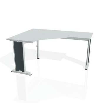 Psací stůl Hobis FLEX FEV 60 pravý, šedá/kov