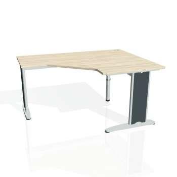 Psací stůl Hobis FLEX FEV 80 levý, akát/kov