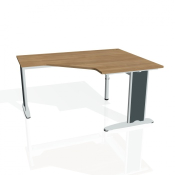 Psací stůl Hobis FLEX FEV 80 levý, višeň/kov