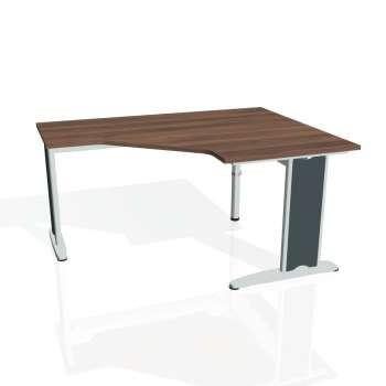 Psací stůl Hobis FLEX FEV 80 levý, ořech/kov